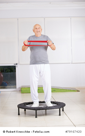 Mini-Trampolin: Senioren Training