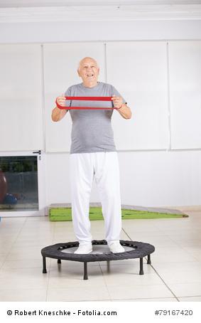 Mini-Trampolin: Senioren Training
