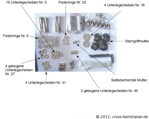 Crosstrainer Christopeit CX 6 - Aufbau-Scheiben