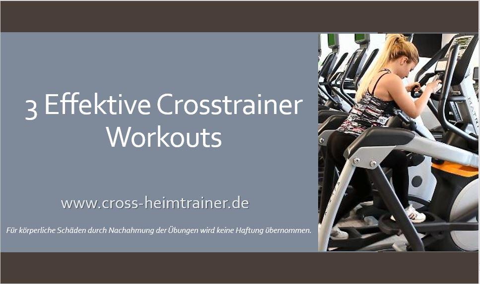 abnehmen mit crosstrainer plan