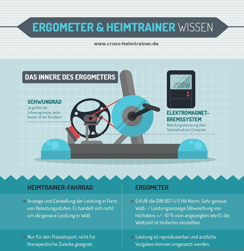 Ergometer Schwungrad - Schwungmasse und Bremssystem