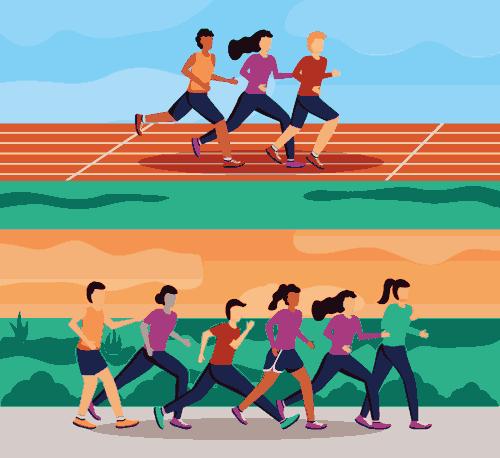 Intervalltraining - Sprints und Walken abwechselnd
