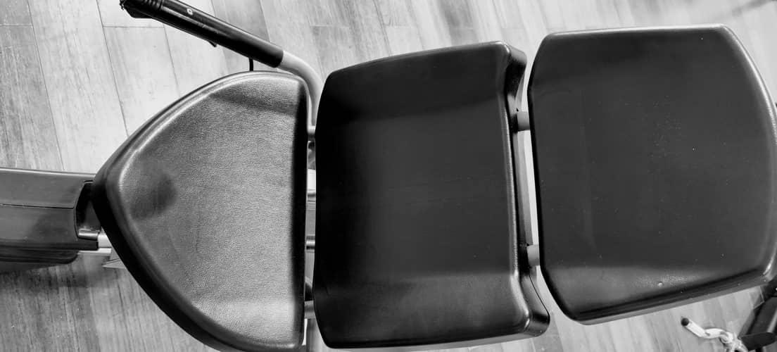 Liegeergometer Sitz gepolstert verstellbar